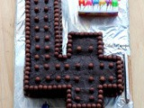 How to make number 4 birthday cake