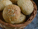 45 minutes Stuffed Whole Wheat Buns