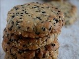 Eggless Japanese Sesame Cookies