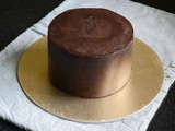 How To Frost a Cake with Ganache Upside Down Method – Video