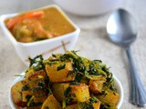Methi Aloo Roast / Potato Fenugreek Leaves Roast