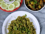 Palak Peas Pulao Recipe – Simple Lunch Menu 2