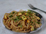 Spaghetti With Roasted Paneer