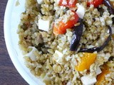 {Guest Post} An Italian in the Midwest: Roasted Vegetables and Freekeh Salad