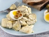 Mom's Potato Salad with Mayonnaise, Eggs and Pickles