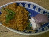 Spicy Masoor Dal/Red Lentils cooked in spicy gravy
