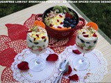 Sugarfree low-fat shrikhand parfaits – an indian spiced fusion dessert