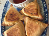 Baked Whole Wheat Spinach Tofu Samosa