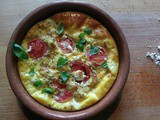 Tomato and Goat Cheese Frittata