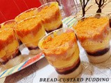 Bread-Custard Layered Pudding