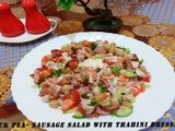 Chick Pea -Sausage Salad With Tahini Dressing