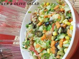 Chicken & Olives Salad