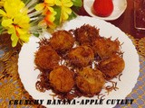 Crunchy Banana-Apple Cutlet