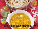 Egg Curry With Cashew Paste