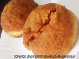 Fried Burger Bun Sandwich