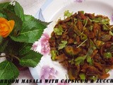 Mushroom Masala with White Zucchini and Capsicum