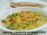 Potato, Capsicum and Carrot Stew