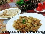 Potato-Chick Pea Pepper Masala