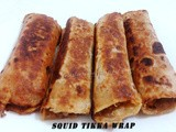 Squid Tikka Wrap