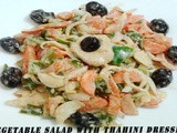 Veg.Salad With Tahini Dressing
