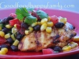 Grilled Taco Chicken with Corn and Black Bean Salad