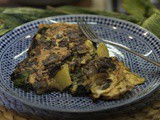 Borage, Mushroom and Potato Omelette