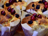 Cranberry Coconut Muffins [Lactose Free with Stevia] and making fresh almond milk