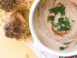 Creamy Cauilflower Soup with Pesto Calabrese and tear & share soda bread