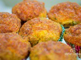 Delicious vegetable muffins made with chickpea flour