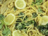 Lemon Ricotta Linguine with Lamb's Lettuce
