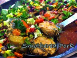 Pork tenderloin bites smothered in an explosion of colour [diabetic friendly, gluten free]
