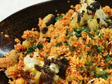 Roasted Cauliflower, Chickpea and Spelt Couscous Salad