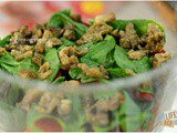 Smoked Eggplant and Spinach Layered Salad