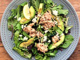 Today's Quick Salad: Tuna Feta Avocado