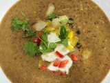 Turtle black bean and sweet potato soup