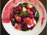 Fennel, Roasted Beet & Citrus Salad with Fennel-Beet Yogurt Dressing