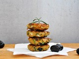 Chiftelute de linte cu masline si verdeturi | Lentil Patties with Olives and Herbs