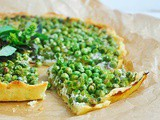 Gluten-Free Green Pea Tart with Mint