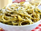Skinny Pesto Cream Pasta