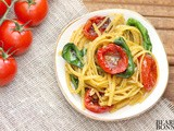 Slow Roasted Caprese Tomatoes and Black Pepper Pasta