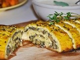 Tofurkey Roulade with Mushrooms