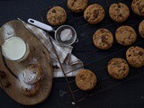 Vegan Pumpkin Cookies with Chocolate Chips