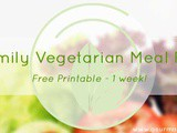 Vegetarian Family Meal Plan – free Printable