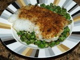 Crunchy Crumbed Cod with Frozen Peas