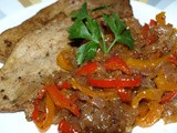 Veal Cutlets with Red Pepper