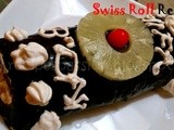 Chocolate frosted Swiss Roll recipe -  Guest Post by Monu Teena