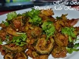 Fried Bitter Gourd with Potatoes - Punjabi Aaloo karelay - Guest Post for Monu