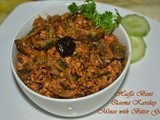 Mince with Bitter Gourd (Qeema Karelay)