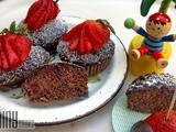 Strawberry Poke Chocolate Cupcakes (Guest Post by AinyCooks)