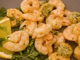 Sautéed shrimps with orange butter and sumac.(stop-over in  Lebanon)